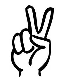 Two finger peace sign coloring page 5 h amp m coloring pages