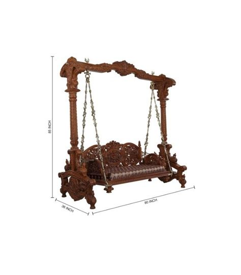 jhula swing buy hand carved ethnic indoor swing for home from teak