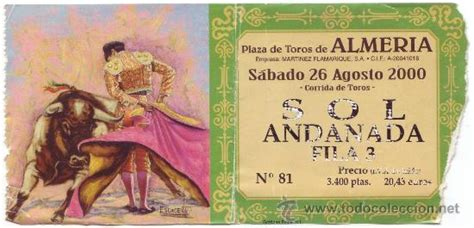cine monumental almeria entradas entrada corrida plaza de toros de almer 237 a 26 0 comprar