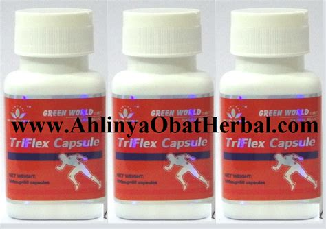 Triflex Capsule Green World Obat Asam Uratrematik Radang Sendi triflex capsule green world ahlinya obat herbal