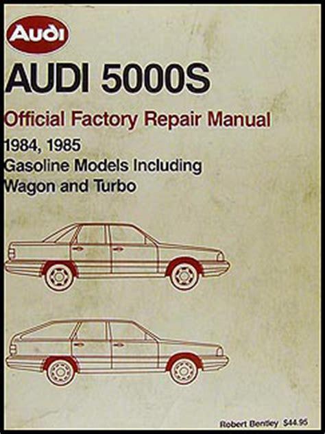 auto repair manual online 1984 audi 5000s engine control 1984 1985 audi 5000s bentley repair shop manual original