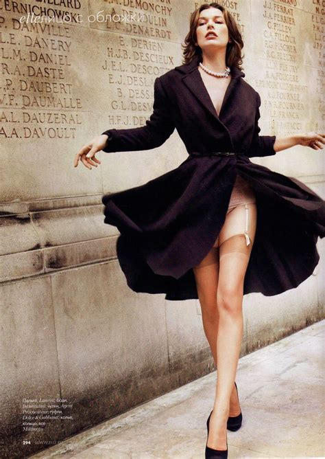 garters and nylons milla jovovich in http