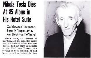 Tesla Died Tesla Master Of Lightning Neatorama