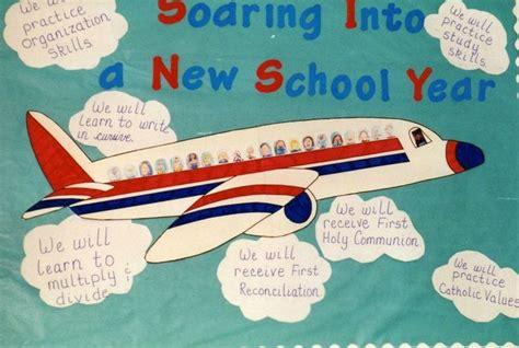 new school year bulletin board ideas soaring into a new school year bulletin board idea