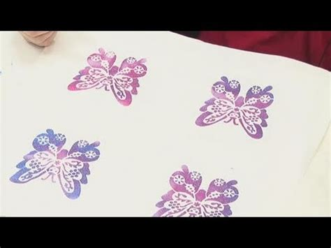 fabric pattern stencils ideas how to apply fabric painting stencils youtube