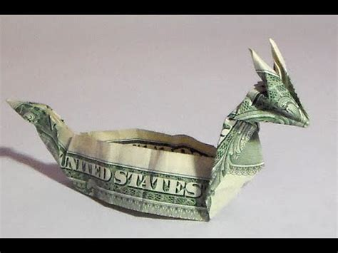 Money Origami Boat - fold money sailboat origami 1 one dollar bill tutori
