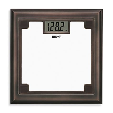 thinner bathroom scale thinner rubbed bronze glass scale bed bath beyond