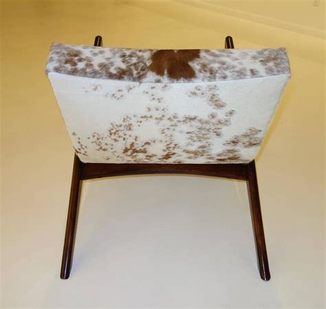 cowhide chair and ottoman rare quot crescent quot lounge chair and ottoman by adrian