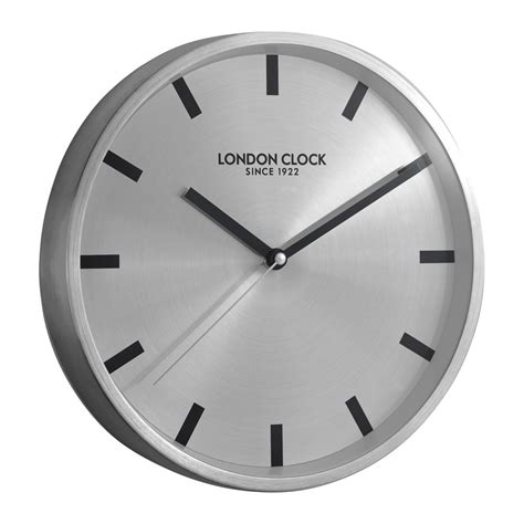 buy clock buy sleek silver marker wall clock online purely wall clocks