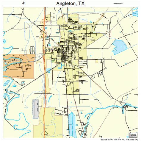 where is angleton on a map angleton map 4803264