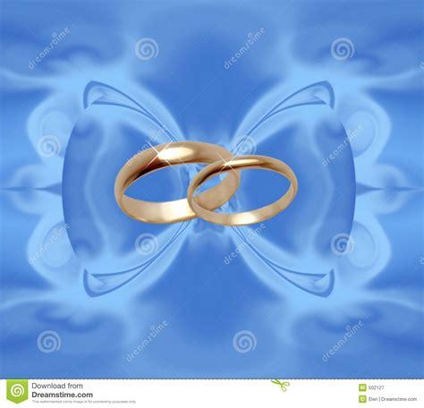 blue background  wedding rings stock illustration