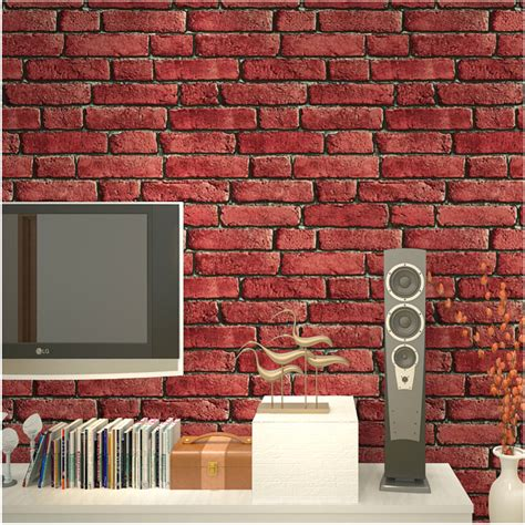 thick wallpaper aliexpress buy modern 3d brick off white aliexpress com buy thick pvc waterproof 3d brick wall