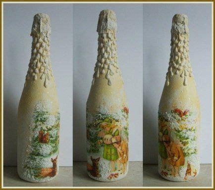 decoracion de botellas de vidrio vacias botellas decoradas con servilletas imagui como hacer