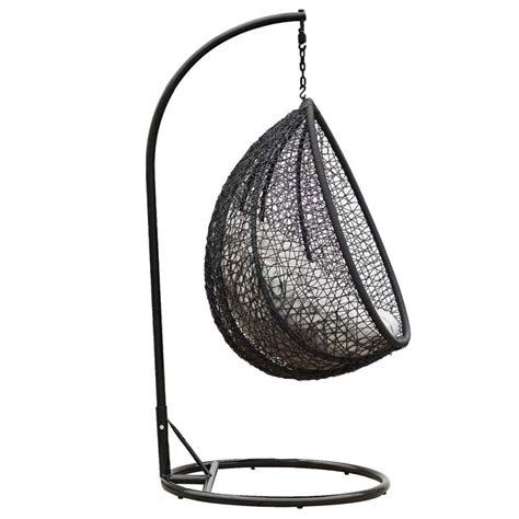 Outdoor Egg Chair by Viola Outdoor Wicker Hanging Egg Chair Black Buy Rattan