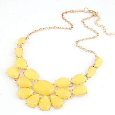 Gelang Korea Gemstone Multilayer Black sle yellow multilayer water drop gemstone decorated