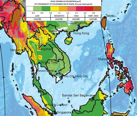 earthquake zone map seismic zone map of asia my blog