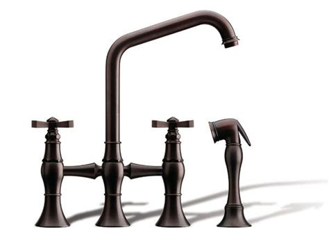 bridge style kitchen faucet 17 best images about kitchen faucet ideas on satin plumbing and furniture ideas