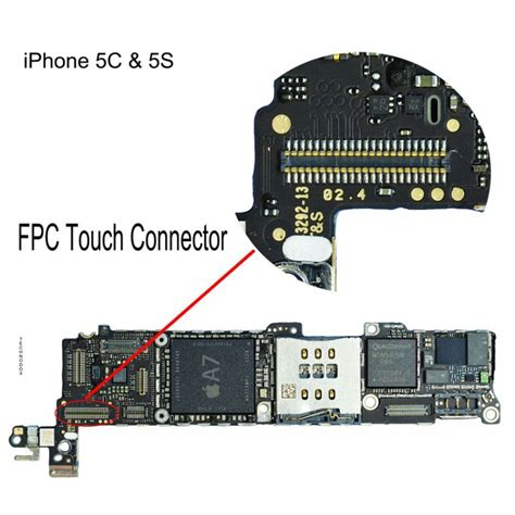 Conector Lcd Iphone 5g Isi 5 fpc touch digitiser connector iphone 5s repair service