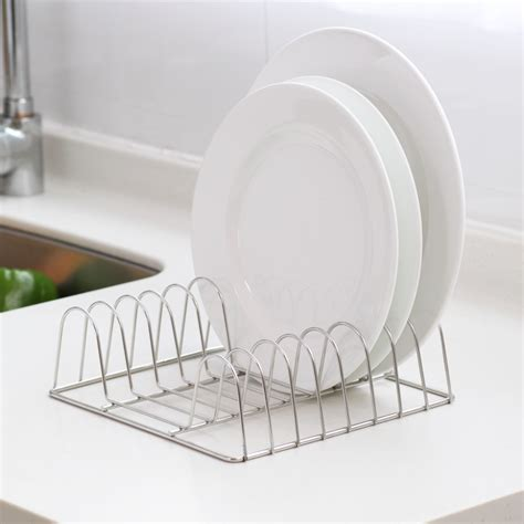 Dish Drying Shelf by Stainless Steel Kitchen Accessories Desktop Dish Rack