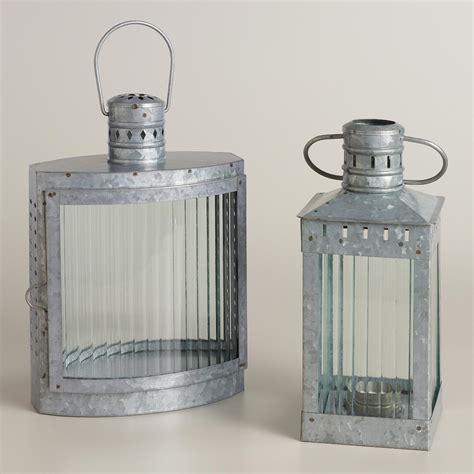 galvanized metal and glass nautical lantern world market