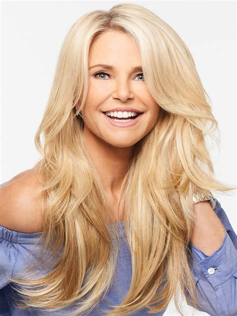 christie dutton hair style 21 quot straight clip in extensions by christie brinkley