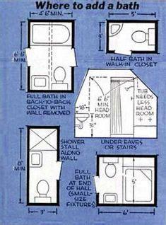 How To Add A Shower To A Small Bathroom 3ft X 4ft Half Bath Or Guest Bath Layout Bathroom Dimensions Pinterest Guest Bath Half