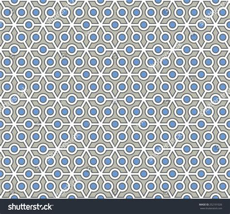 pattern blue and grey retro blue grey color pollen seamless stock vector