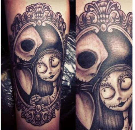 jack and sally couple tattoos and sally tattoos