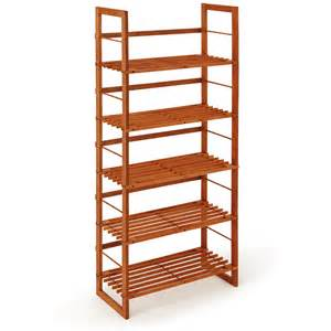 storage shelves wood wooden shelf shoe shelf 5 shelves storage unit 135cm