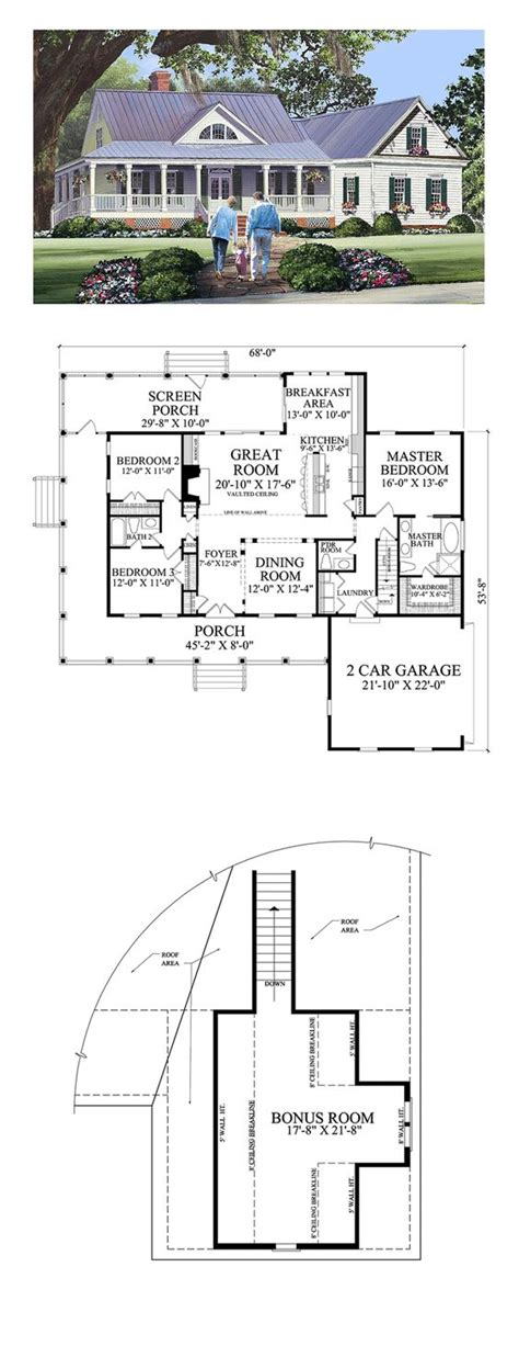 Three Bedroom Ranch House Plans cottage country farmhouse traditional house plan 86344 home