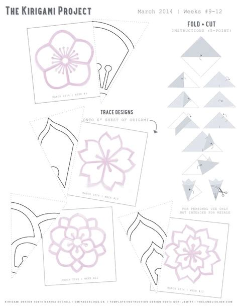 pattern kirigami flower omiyage blogs the kirigami project week 12 double