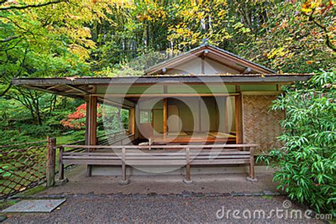 tea house portland tea house at japanese garden in fall seaston stock photo image 46458687