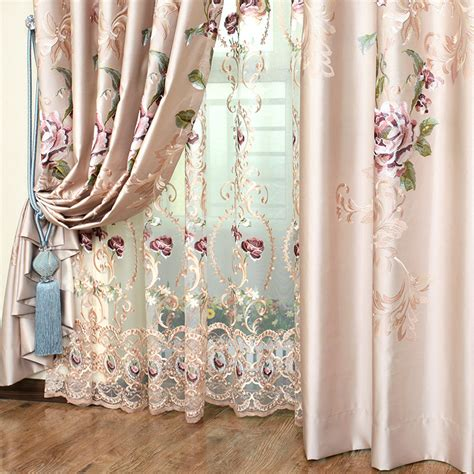 embroidered curtain high end curtains window drapes custom curtains sale