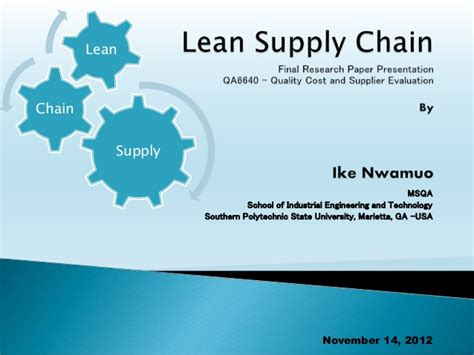 Supply Chain Microsoft Mba Linkedin by Ppt Lean Supply Chain Presentation