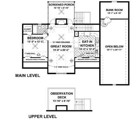 rv home plans rv garage with observation deck