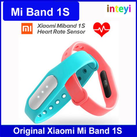 Xiaomi Mi Band 1s Pulse With Rate Monitor 2 100 new original xiaomi mi band 1s smart xiaomi miband rate monitor pulse 1s for android