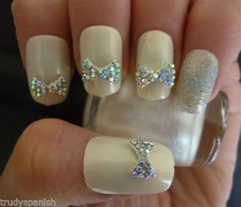 Pearl Rhinestone With Metal Edge For Nail Bling 3d Rhinestone Bow Wedding Nail 2062431 Weddbook
