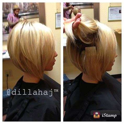 hairstyles for growing stacked bob out 7 best images about hair extensions for short hair on