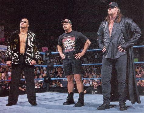 reverse wrestling wwf the rock the undertaker vs stone wwe attitude era the rock stone cold steve austin and the