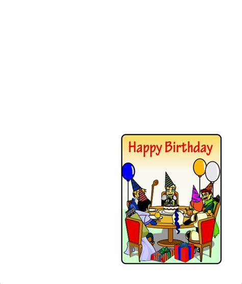 quarter fold birthday card template quarter fold card template 7 free printable word pdf