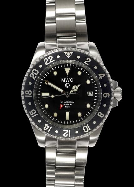 MWC GMT Dual Timezone Stainless Steel Military Watch on Matching Brace ? Military Watch Company