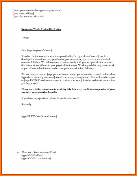 return to work note 6 sle doctor note to return to work free invoice letter