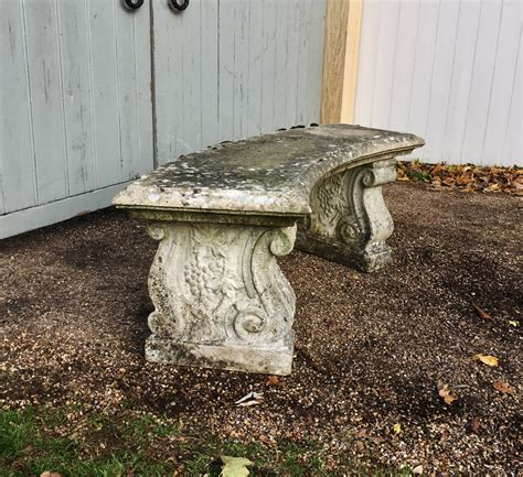 curved stone bench curved stone bench in from the vintage garden company