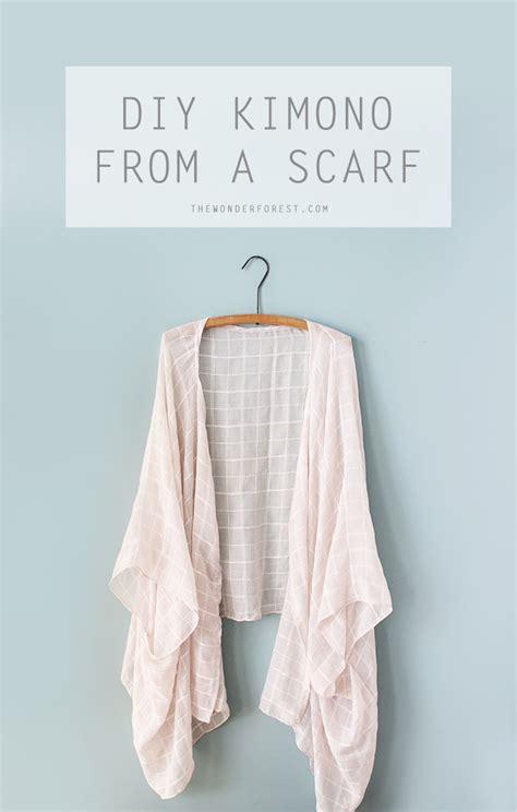 diy kimono from a scarf