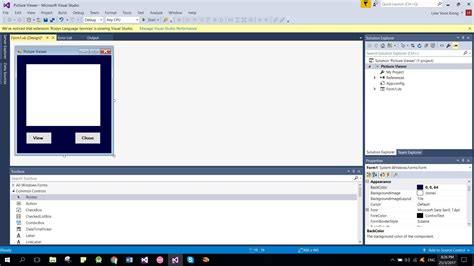 design form on visual basic visual basic 2017 lesson 3 adding controls to the form