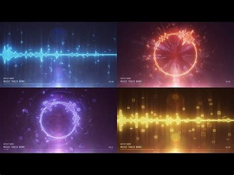 Audio Spectrum Music Visualizer After Effects Template Adobe After Effects Visualizer Template
