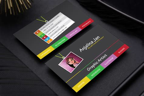 graphic business card templates free graphic artist business card template design