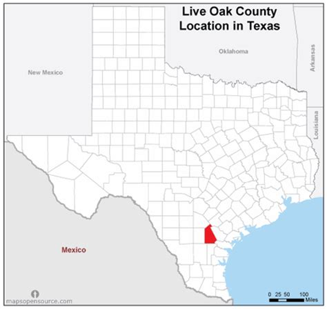 map of oak texas free and open source location map of live oak county texas mapsopensource