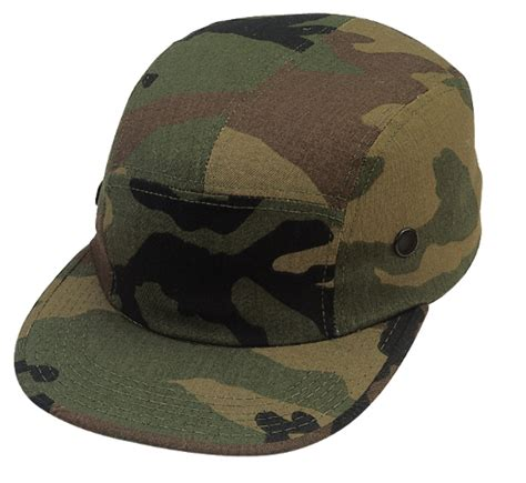 5 panel flat brim skate woodland forest camo