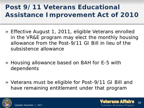 gi bill housing allowance post 9 11 gi bill housing allowance tap va benefits 2012